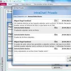 Sistema Intrachat  MS Access